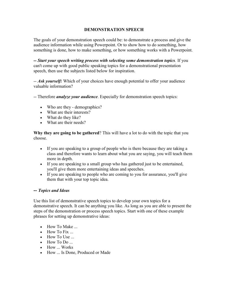 10 Unique 5 Minute Demonstration Speech Ideas 006752376 1 d847cb0dd5e095467e28e60d4c61492e 1 2020