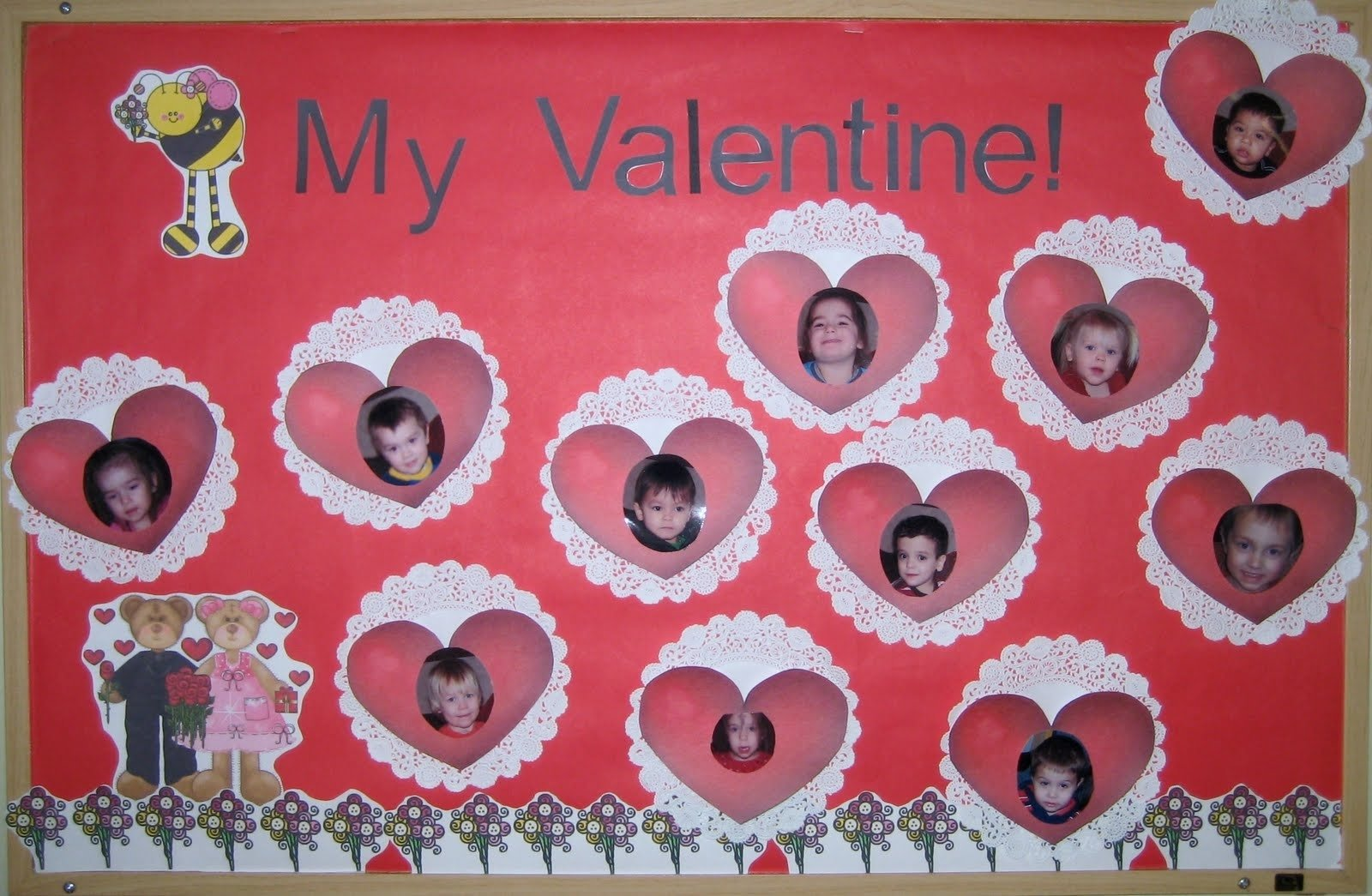 10 Cute February Bulletin Board Ideas For Preschool 1 2 3 learn curriculum bee my valentine bulletin board 2