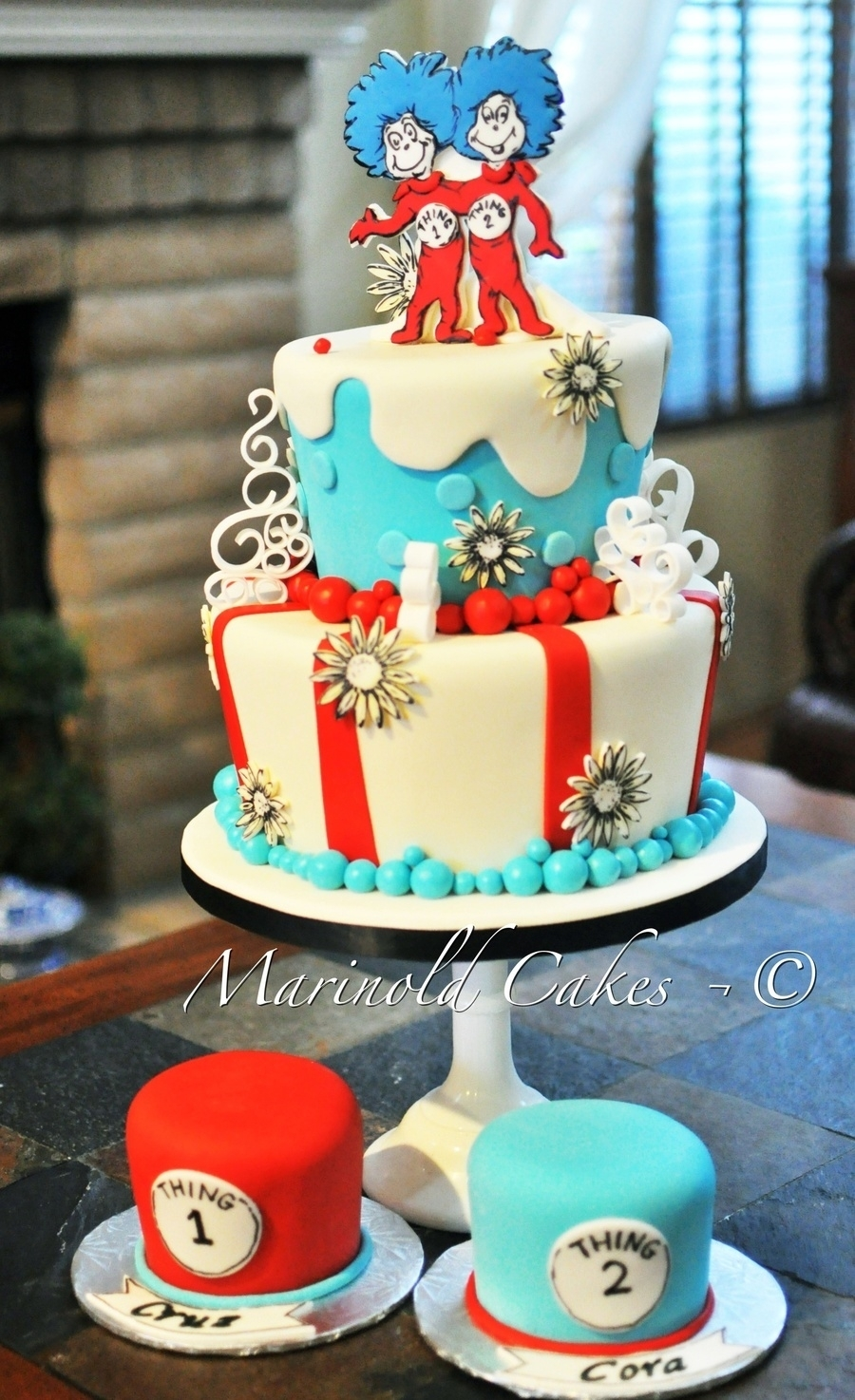 10 Awesome Thing 1 And Thing 2 Cake Ideas %name 2020