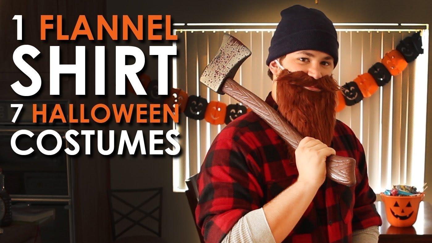 10 Stunning Cheap Mens Halloween Costume Ideas 1 flannel shirt 7 halloween costumes art of manliness youtube 2020