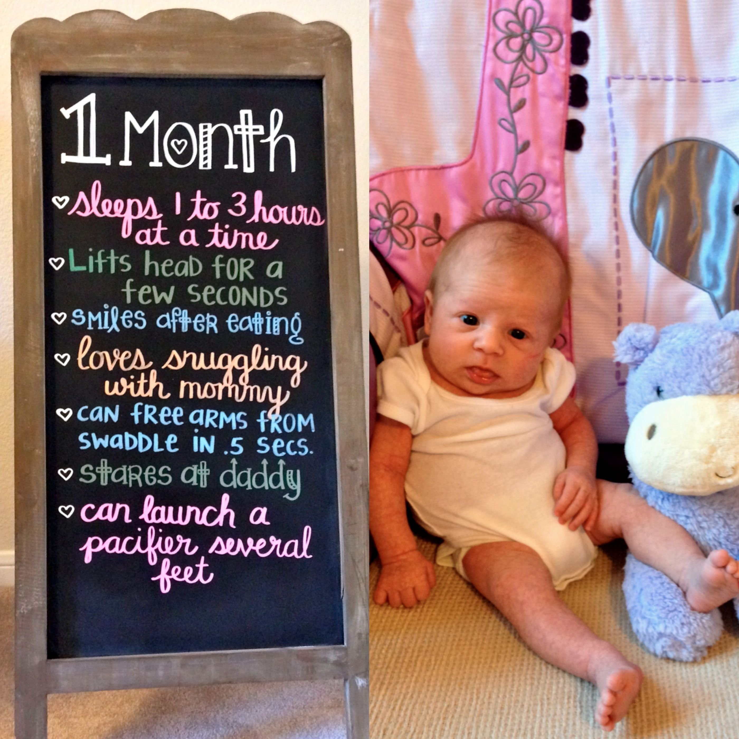 10 Unique 1 Month Baby Picture Ideas 1 month baby chalkboard pinteres 2021