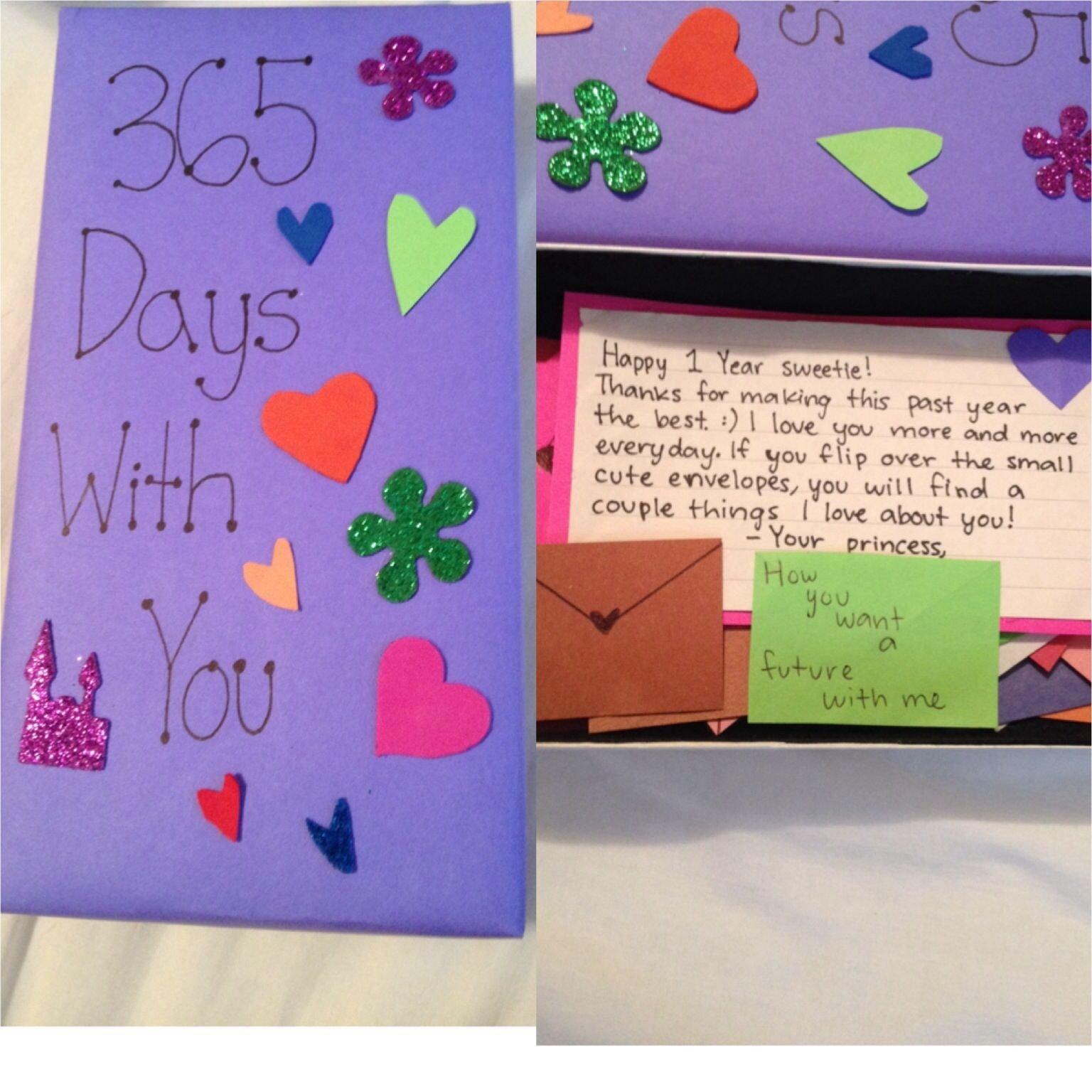 10 Unique 1 Year Anniversary Ideas Him 1 year anniversary gift for my boyfriend that i made boyfriend 1 2021