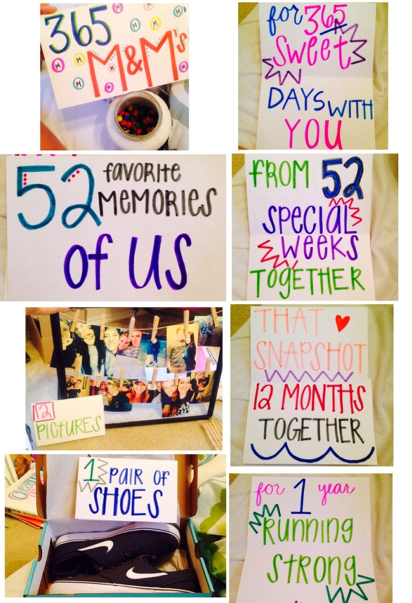 10 Cute Cute Anniversary Ideas For Boyfriend 1 year anniversary gifts for him ideas boyfriends year 7 2020