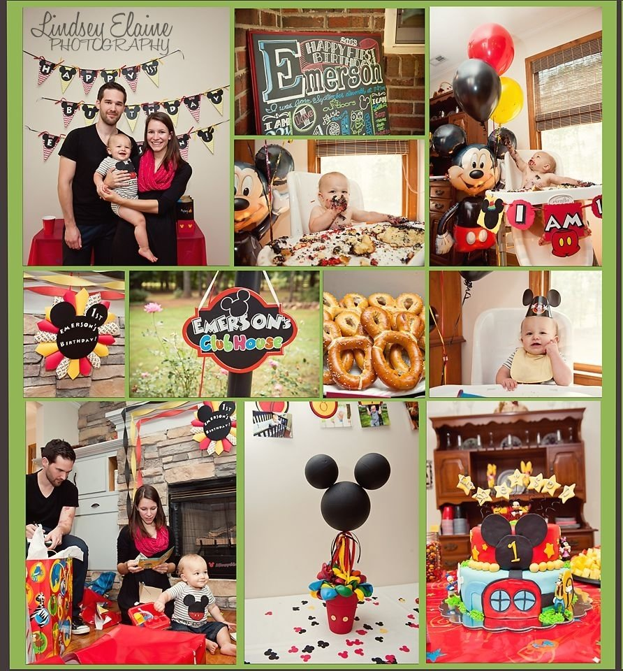 10 Perfect Mickey Mouse Party Ideas For One Year Old 1 year old photography baby boy first birthday mickey mouse one 2021