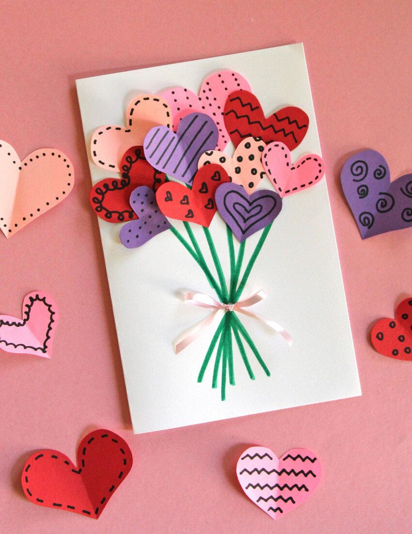 10 adorable (and easy!) diy valentine's day cards | pinterest