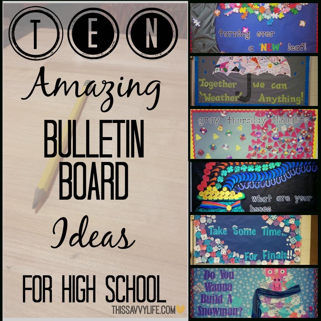 10 Cute Bulletin Board Ideas High School 10 amazing bulletin board ideas for high school this savvy life 3 2020