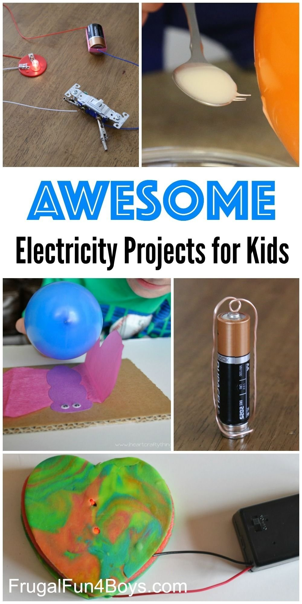10 Cute Science Project Ideas For Kids 10 awesome electricity projects for kids static electricity 2021