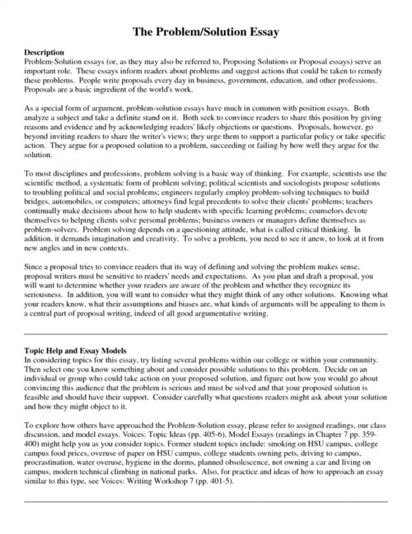 beautiful ideas for problem solution essay