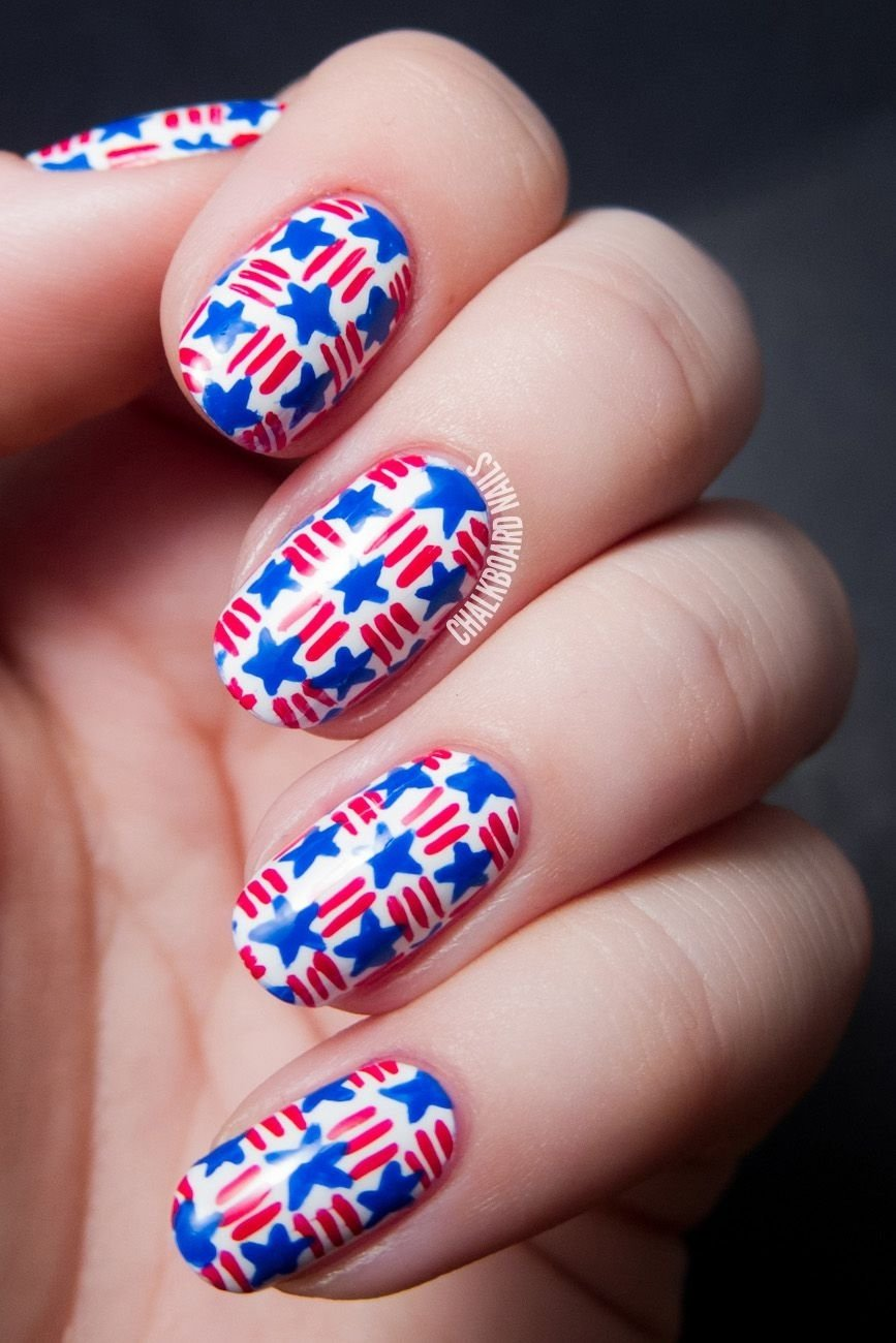 10 Awesome Fourth Of July Nail Art Ideas 10 best 4th of july nail art designs cool ideas for patriotic 1