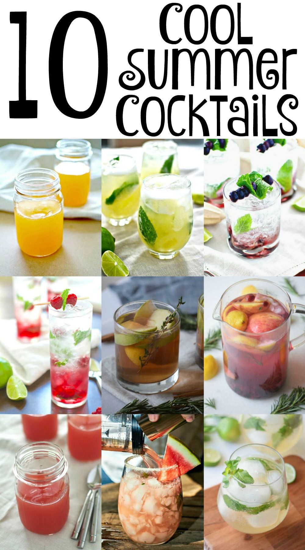 10 Lovely Cool Drink Ideas For Parties 10 cool summer cocktails alcoholic beverages drinks pinterest