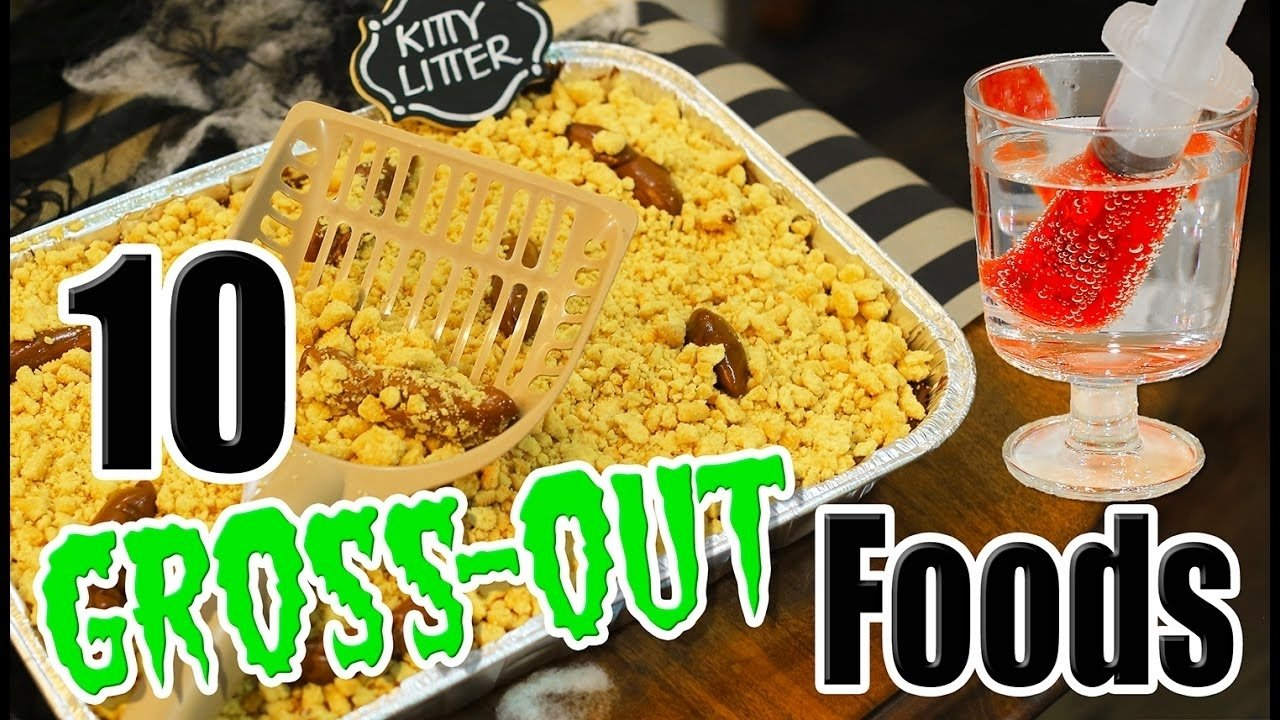 10 Unique Gross Halloween Party Food Ideas 10 diy halloween gross out food ideas with kalium kamri noel youtube 2020