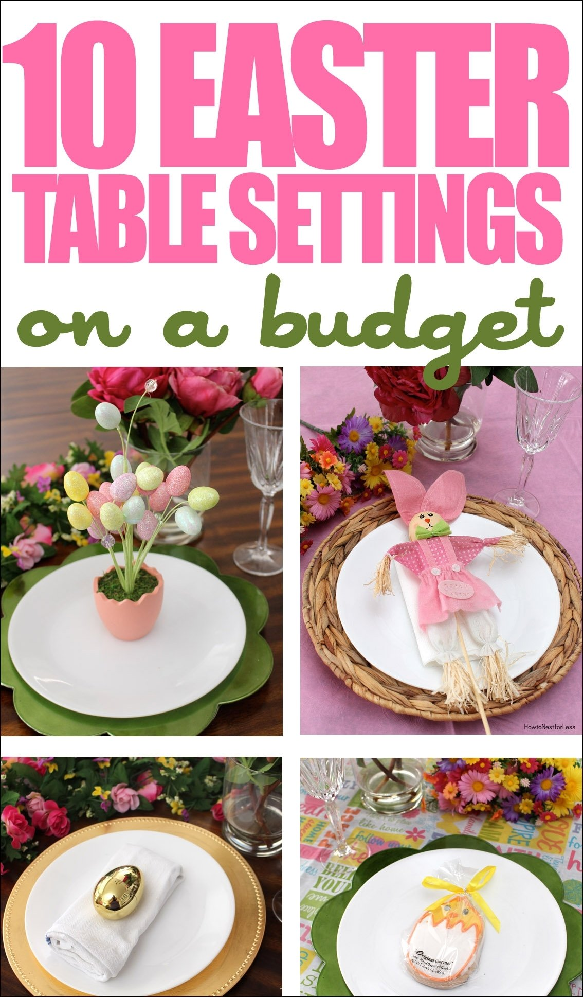 10 Best Easter Decorating Ideas Table Setting 10 easter table setting ideas on a budget how to nest for less 2021