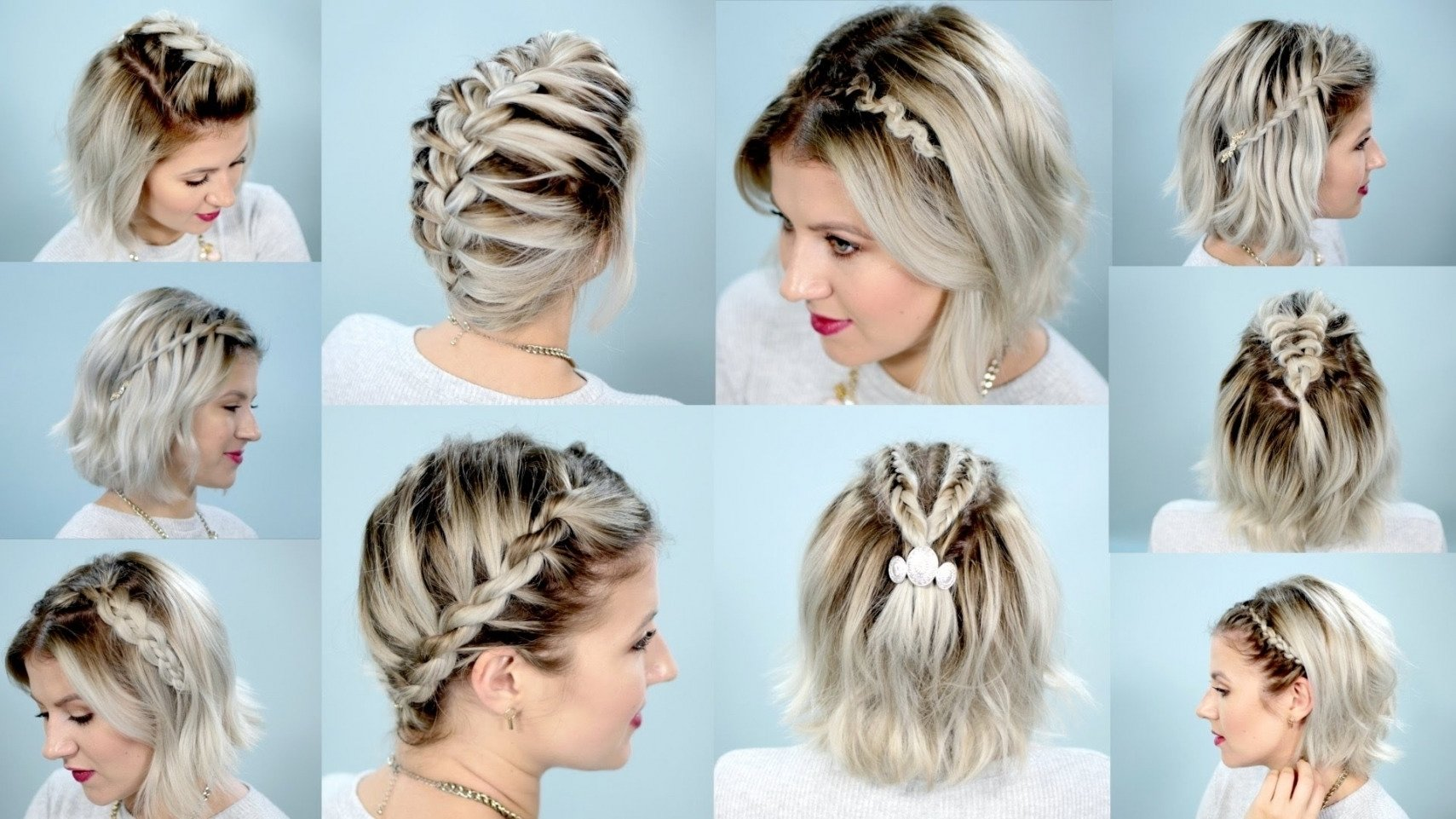 10 easy braid hairstyles for short hair | best hairstyles and