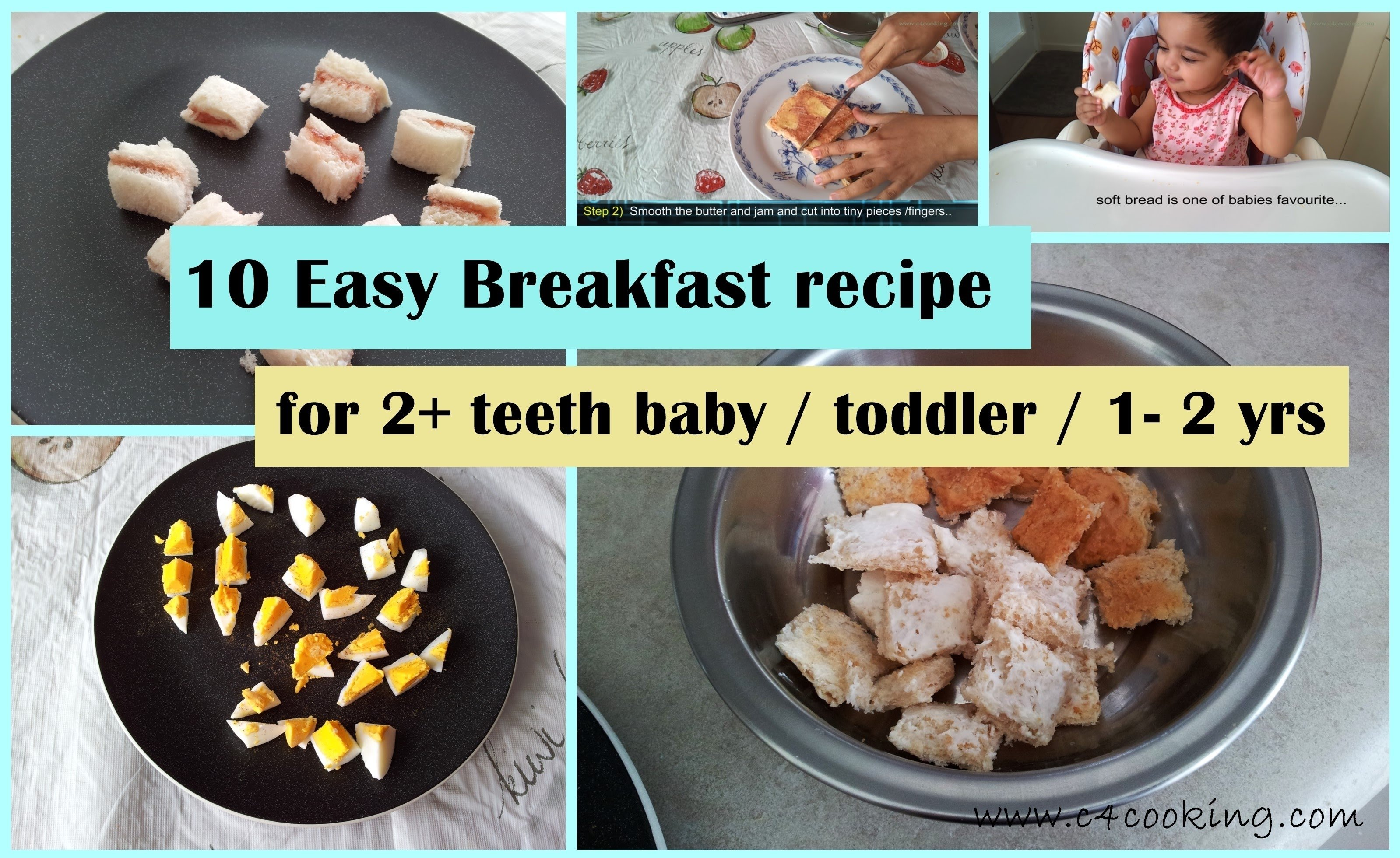 10 easy breakfast ideas ( for 2+ teeth baby / toddler / 1-2 yrs