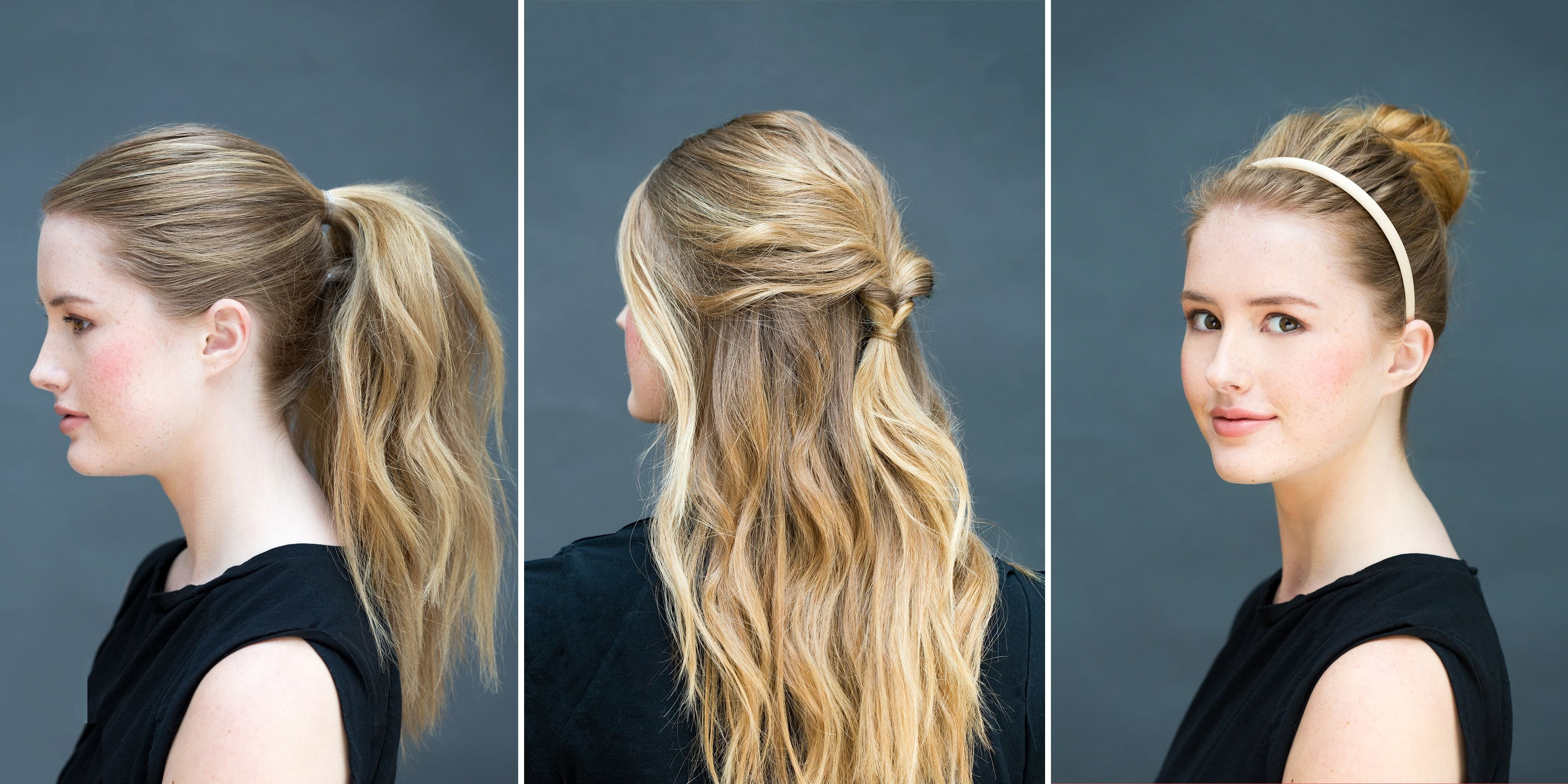 10 Stunning Easy Hair Ideas For Long Hair 10 easy hairstyles you can do in 10 seconds diy hairstyles 1 2021