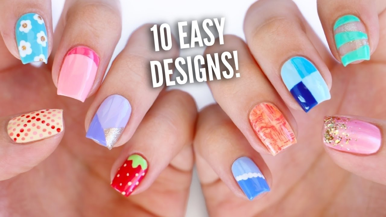 10 Fantastic Nail Art Ideas Easy Step By Step 10 easy nail art designs for beginners the ultimate guide 4 youtube 2021