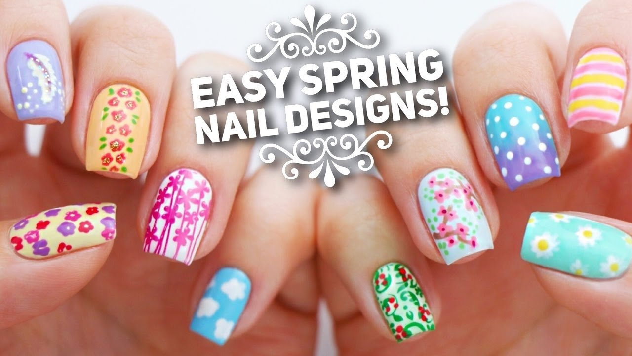10 easy nail art designs for spring | the ultimate guide! - youtube