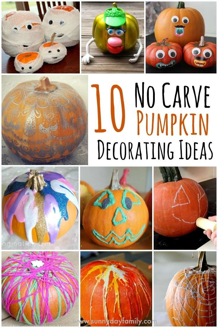 10 Beautiful Easy Pumpkin Decorating Ideas Without Carving Pumpkin 10 easy no carve pumpkin decorating ideas your family will love 2020