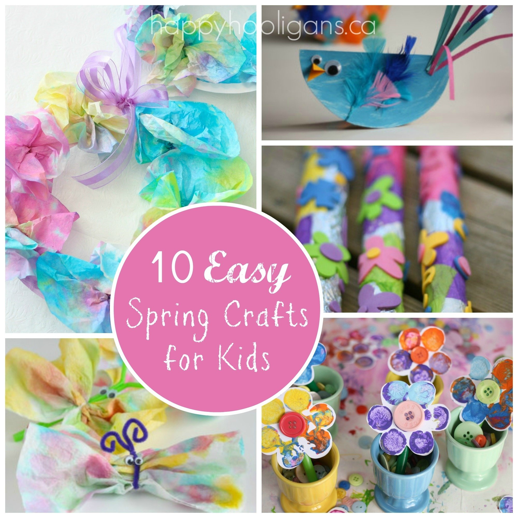 10 Fabulous Spring Craft Ideas For Kids 10 easy spring crafts for toddlers and preschoolers happy hooligans 2021