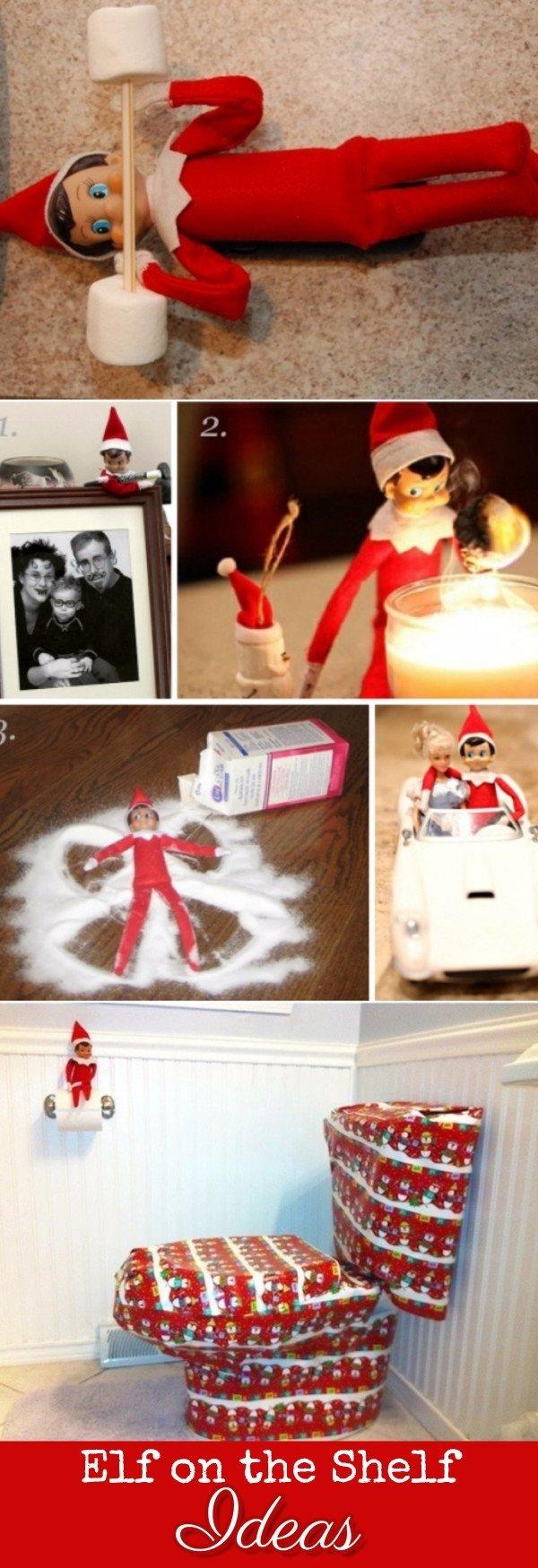 10 elf on the shelf ideas for christmas 2017 (crazy elf! such pranks