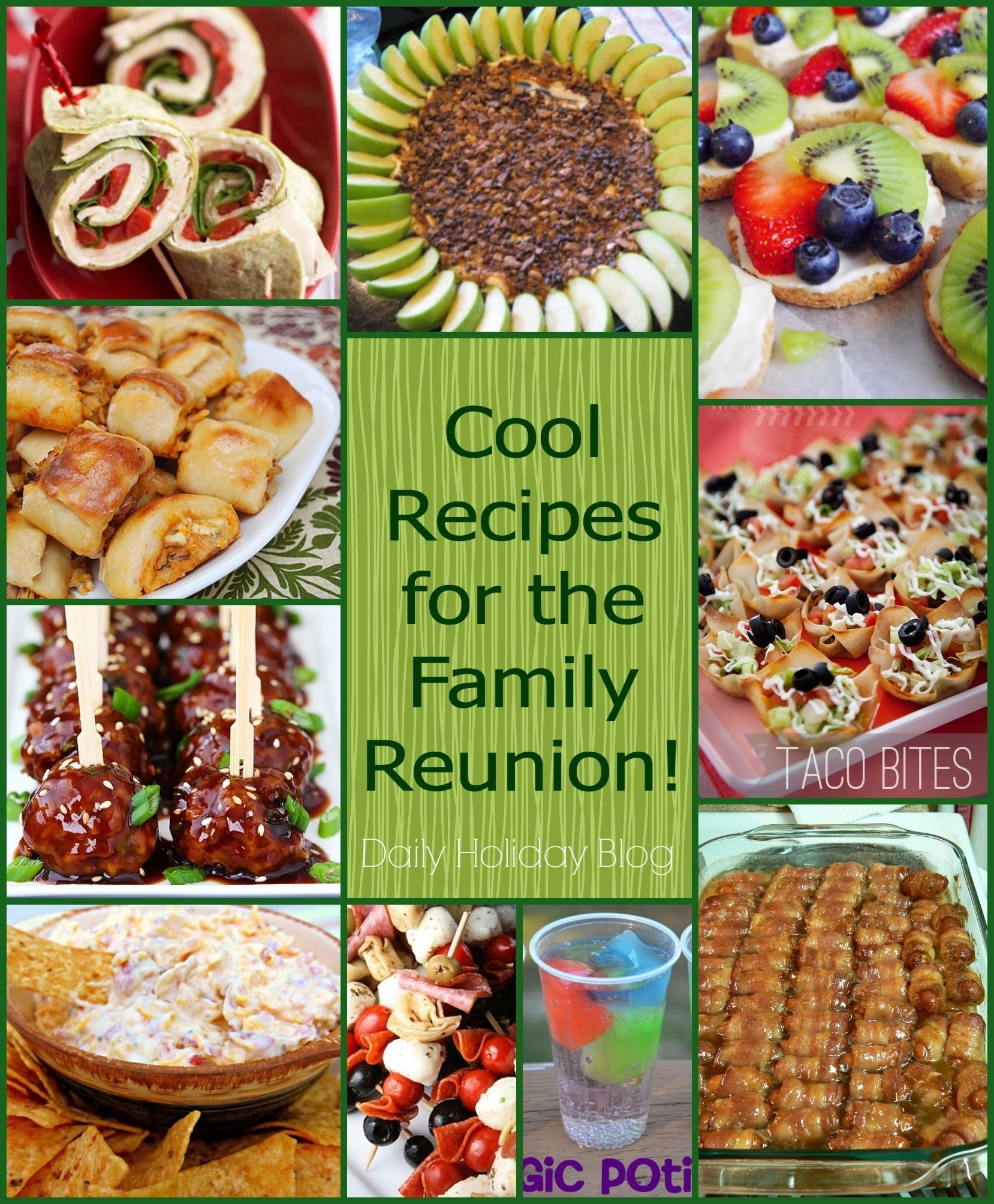 10 fabulous family reunion menu ideas! @dailyholidayblg #recipes