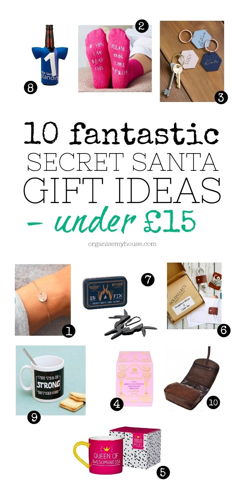 10 fantastic secret santa gift ideas - that are all under £15!