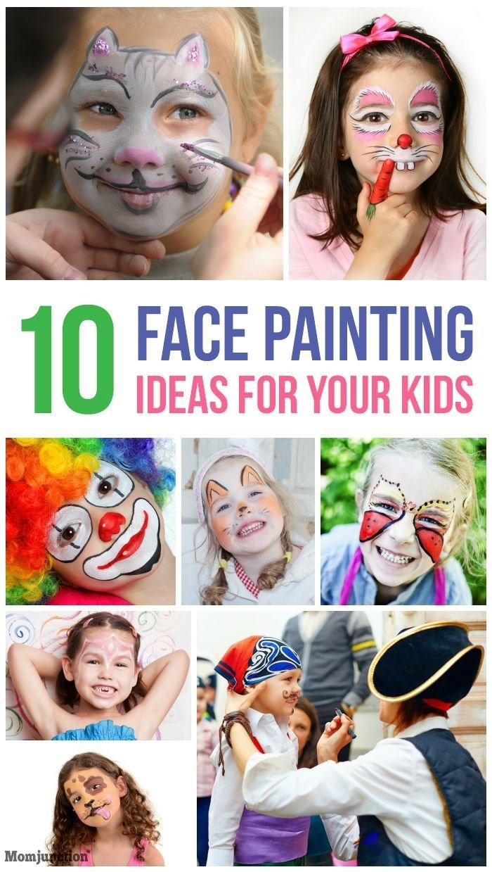 10 Famous Face Painting Ideas Step By Step 10 fun and easy kids face painting ideas face paintings face and 2020