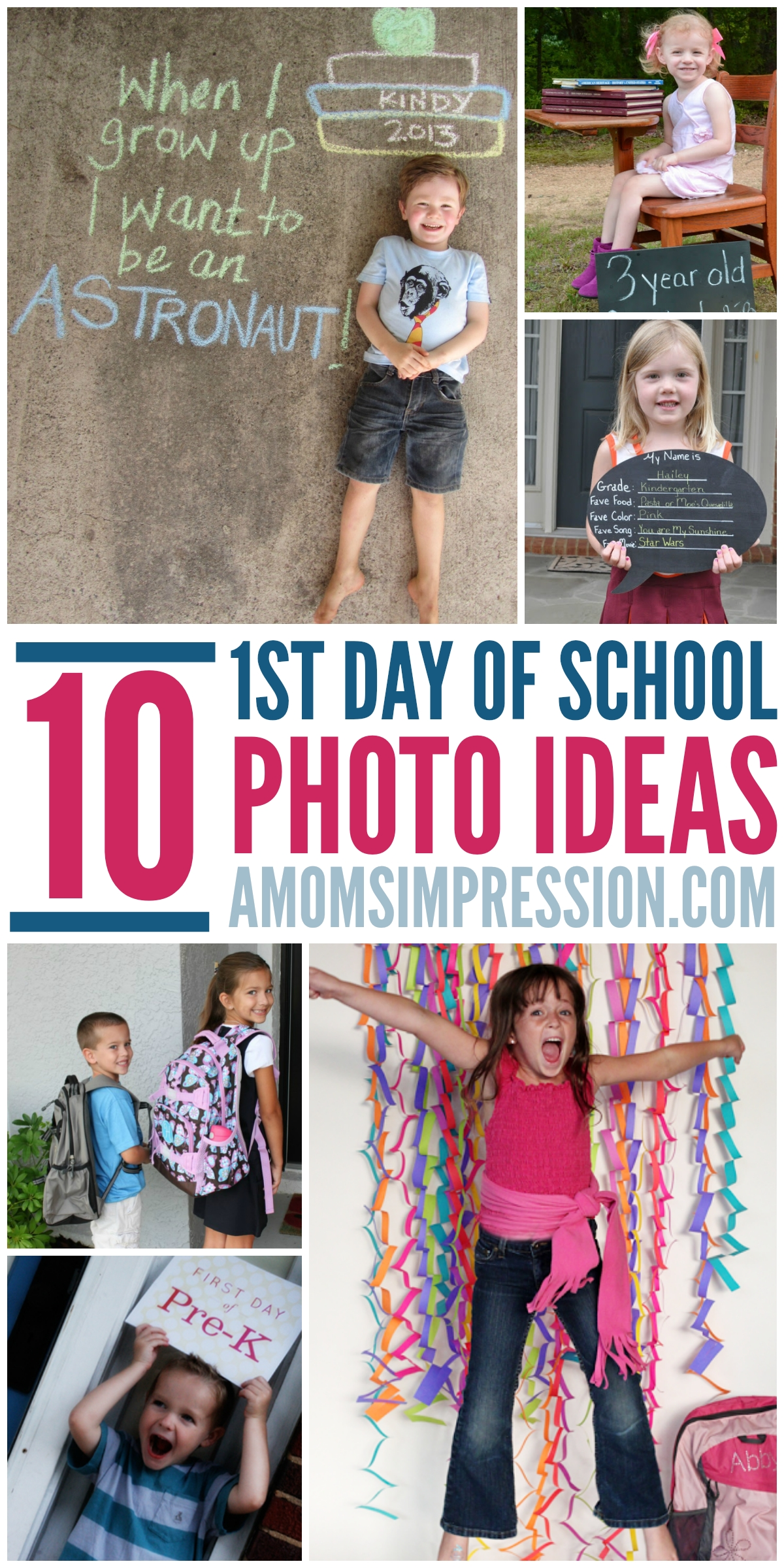 10 fun photo ideas for the 1st day of school. parents love to