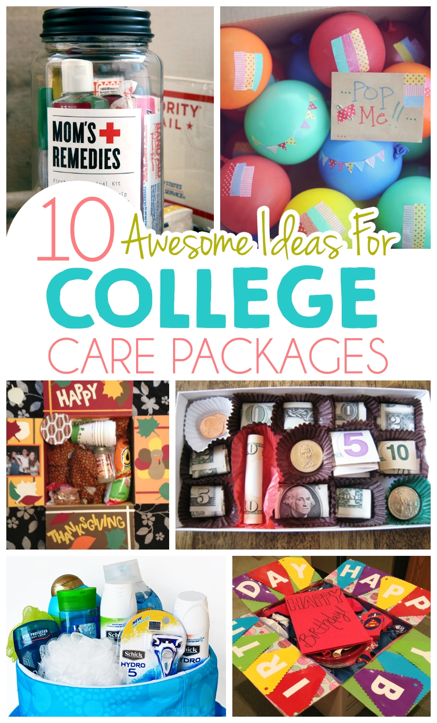10 ideas for college care packages | college, ads and gift