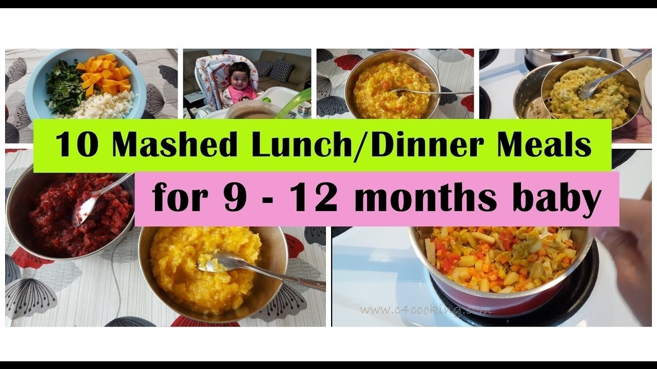10 Elegant Meal Ideas For 10 Month Old 10 mashed meals for 9 12 months baby 9101112 months baby food