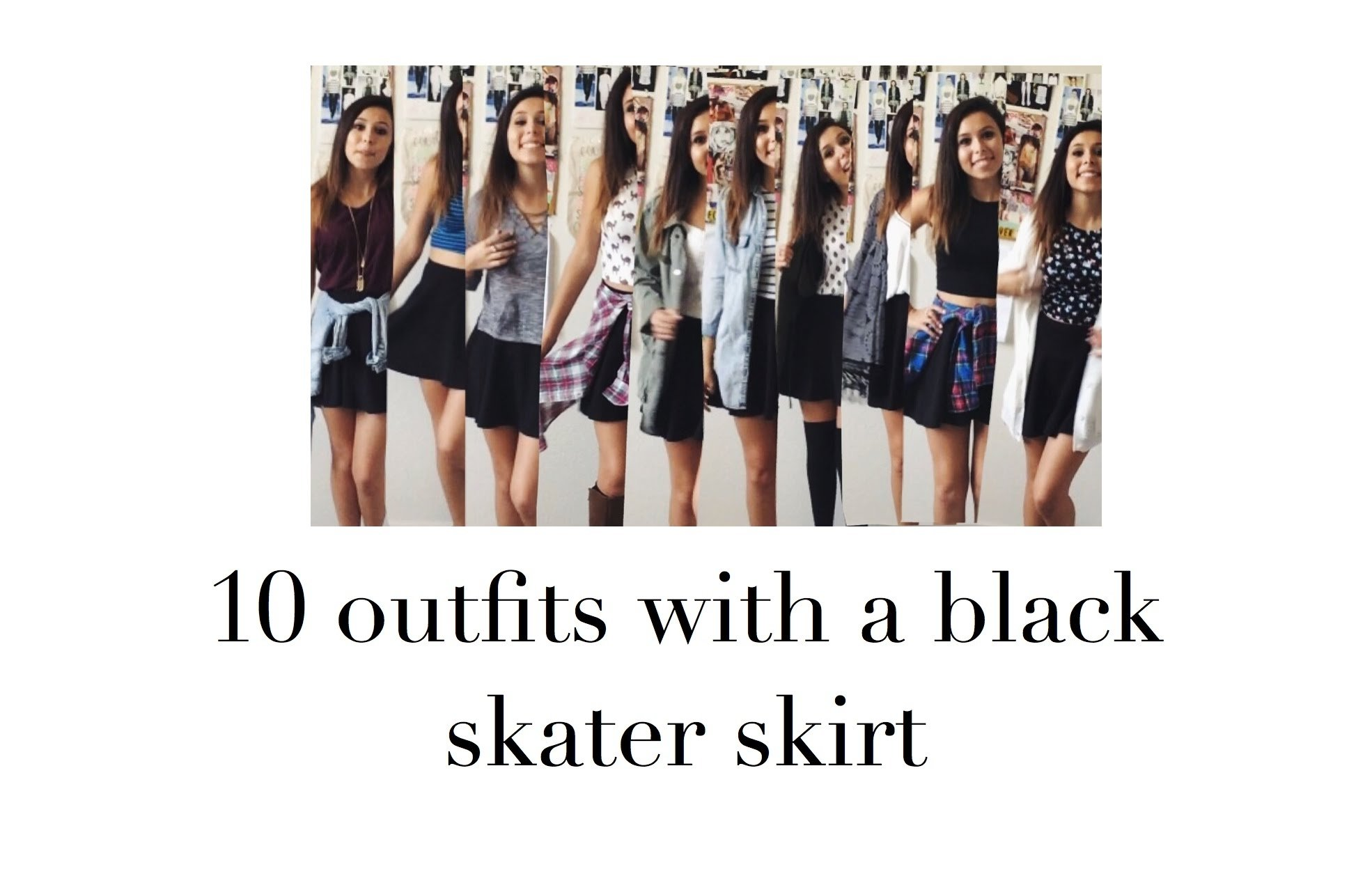 10 Wonderful Black Skater Skirt Outfit Ideas 10 outfits with a black skater skirt youtube 2020