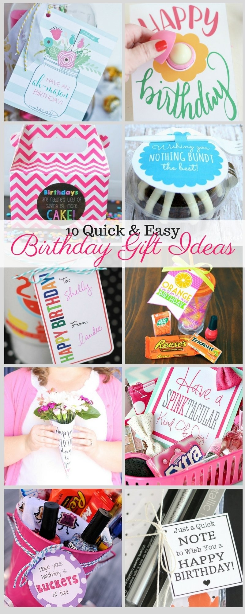 10 quick and easy birthday gift ideas - liz on call