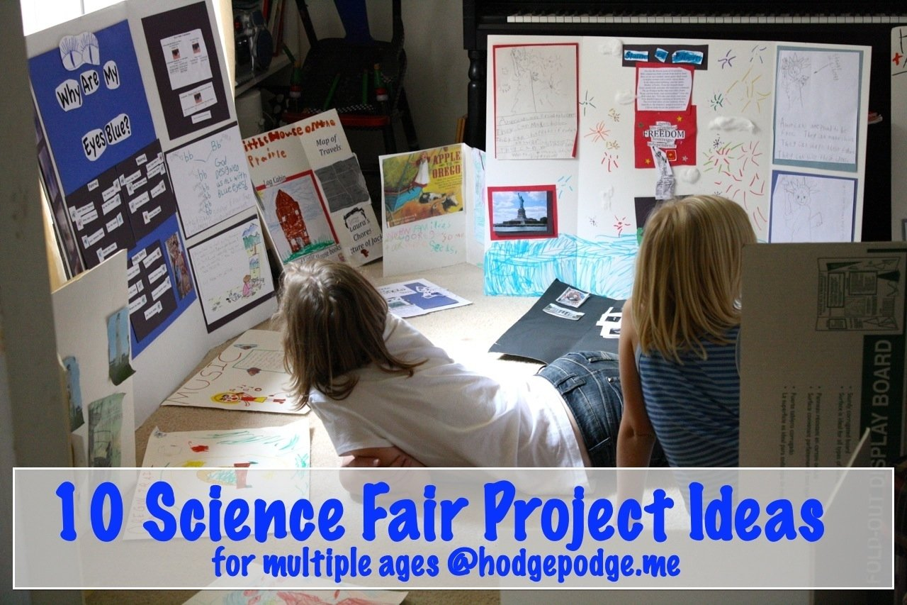 10 science fair project ideas - hodgepodge
