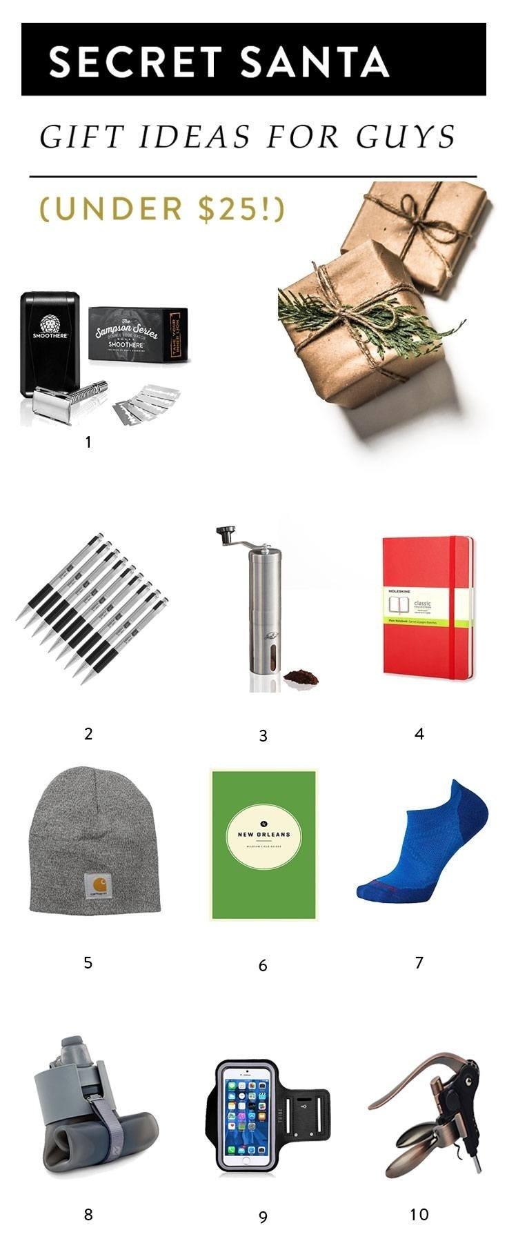 10 Lovable Secret Santa Gift Ideas For Guys 10 secret santa gift ideas for guys under 25 1 2021