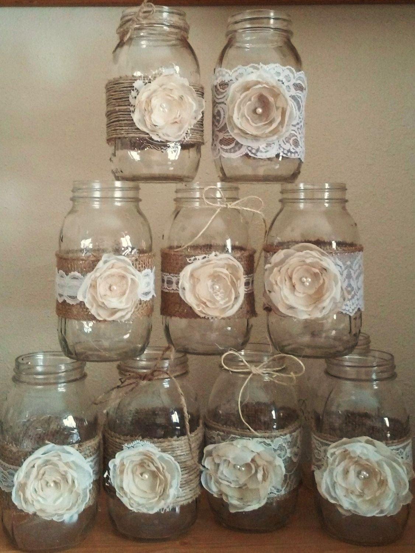 10 shabby chic mason jar decorations rusticrusticwithelegance