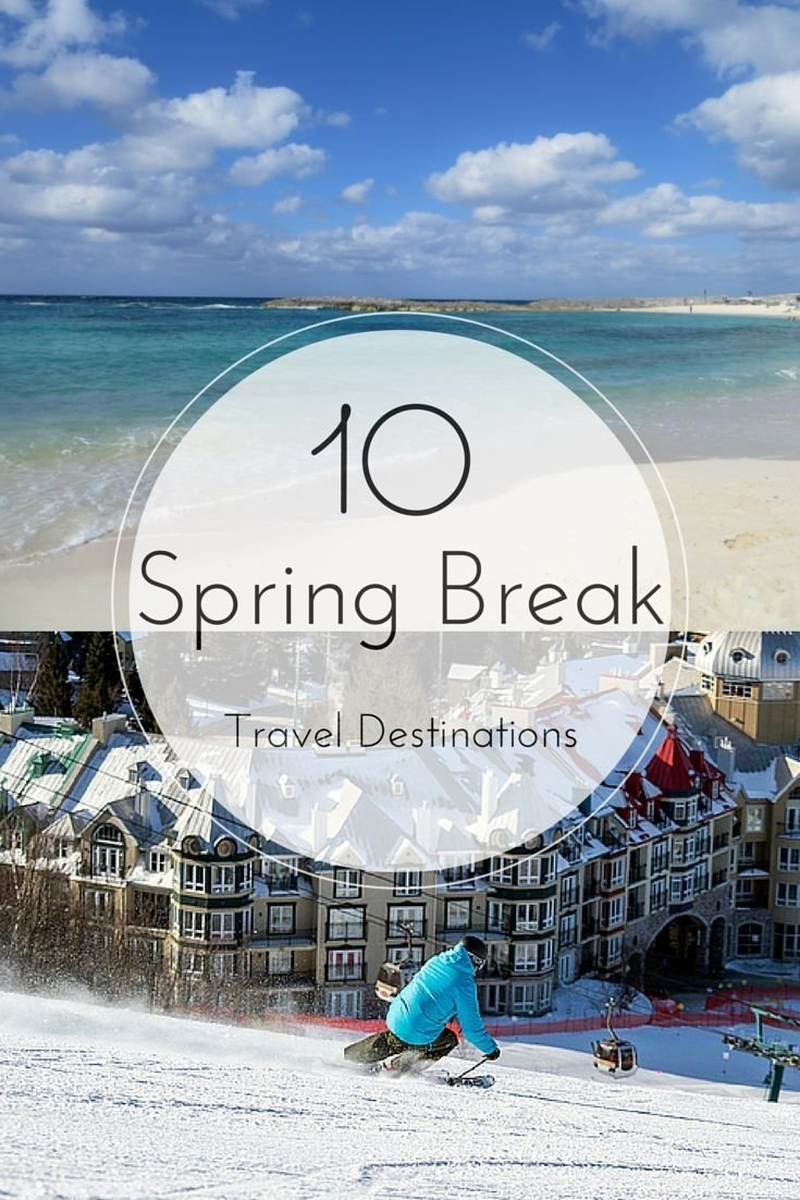 10 spring break travel destinations - my favourite choices for