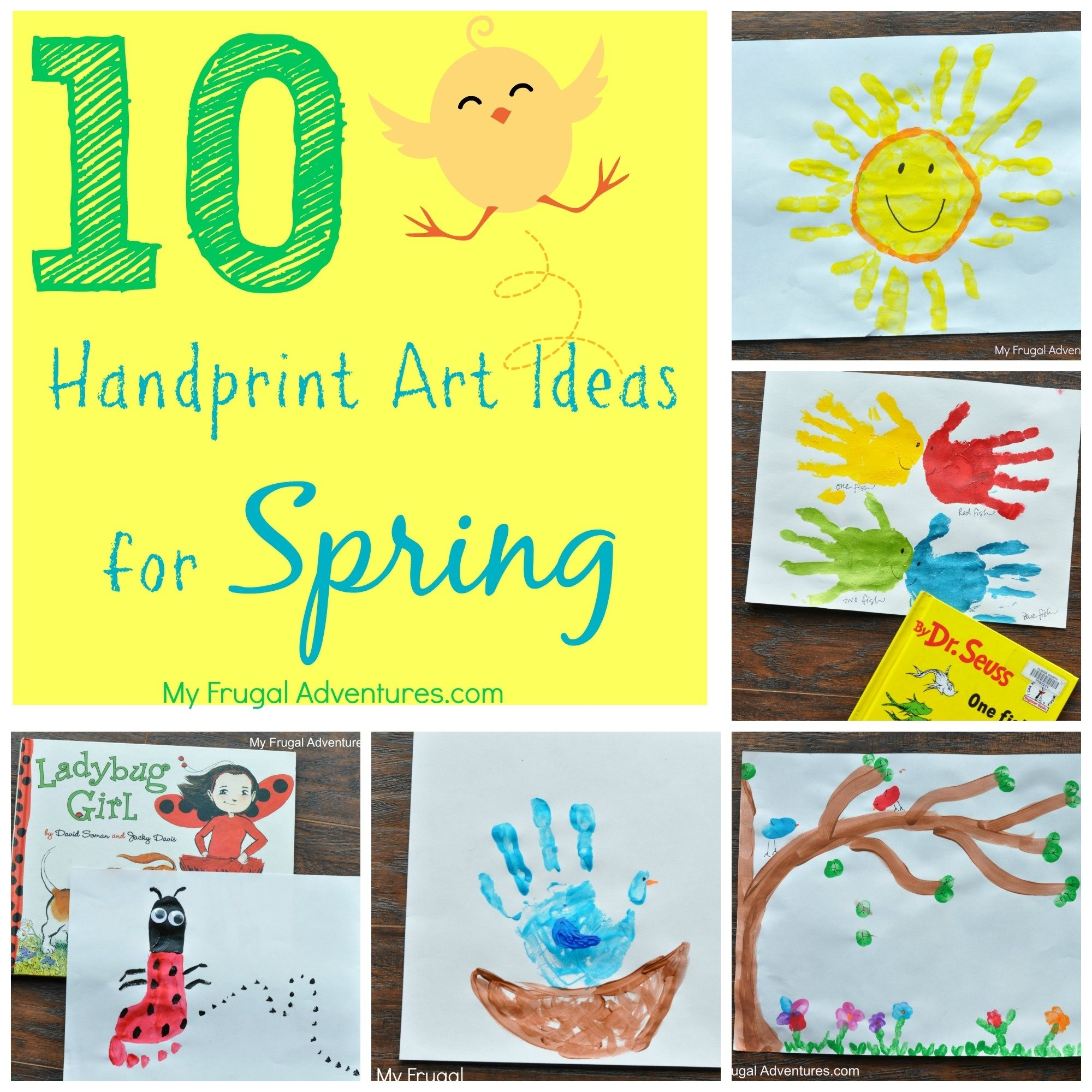 10 Fashionable Spring Arts And Crafts Ideas 10 spring handprint art ideas for children my frugal adventures 2020