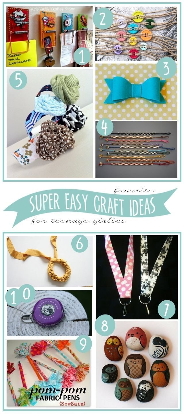 10 super easy craft ideas{to make with teenage girls} | girls camp