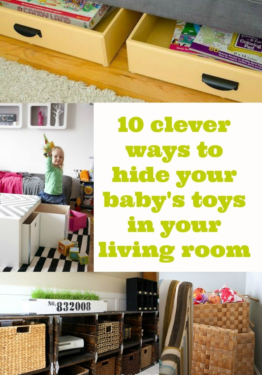 10 ways to hide baby stoys in your living room, toy storage in
