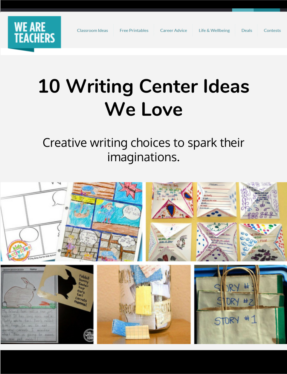 10 Elegant Writing Center Ideas For Kindergarten 10 writing center ideas we love 2020