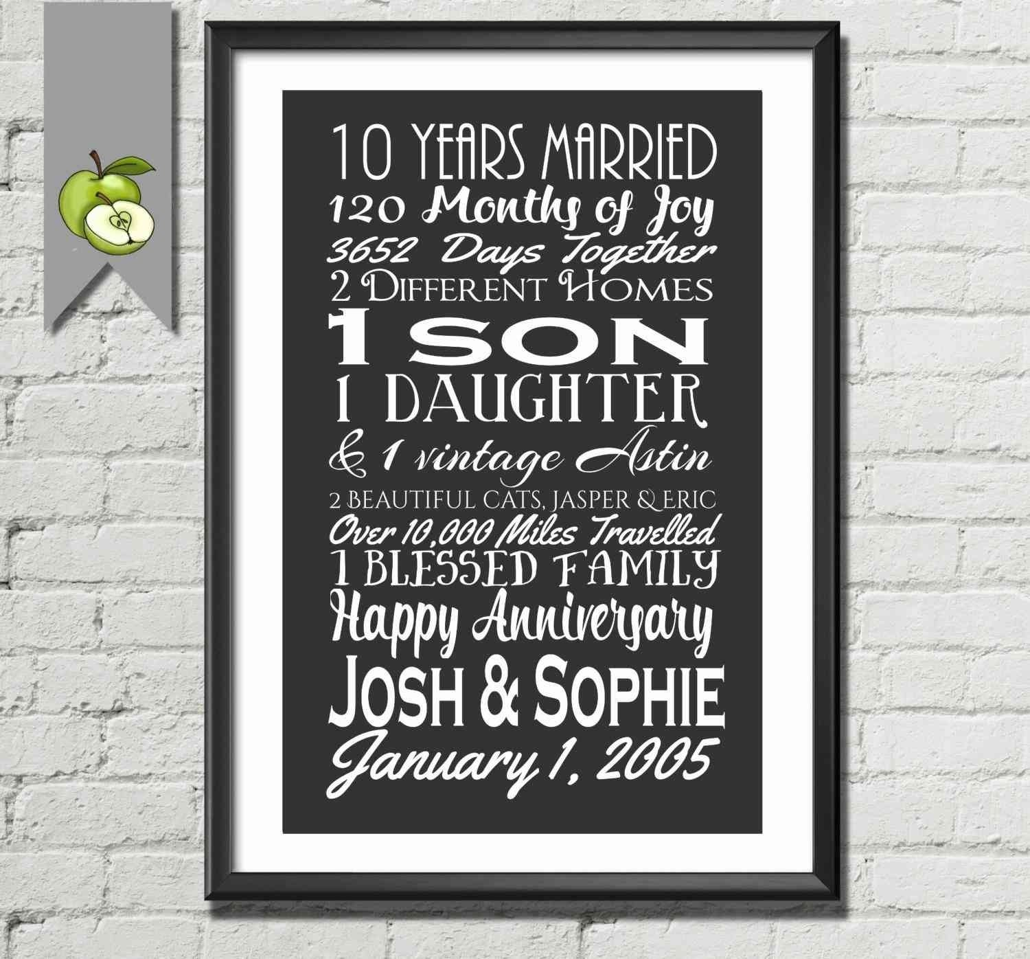 10 Unique Ten Year Anniversary Gift Ideas 10 year wedding anniversary gift ideas for him unique lovely 10 year 2020