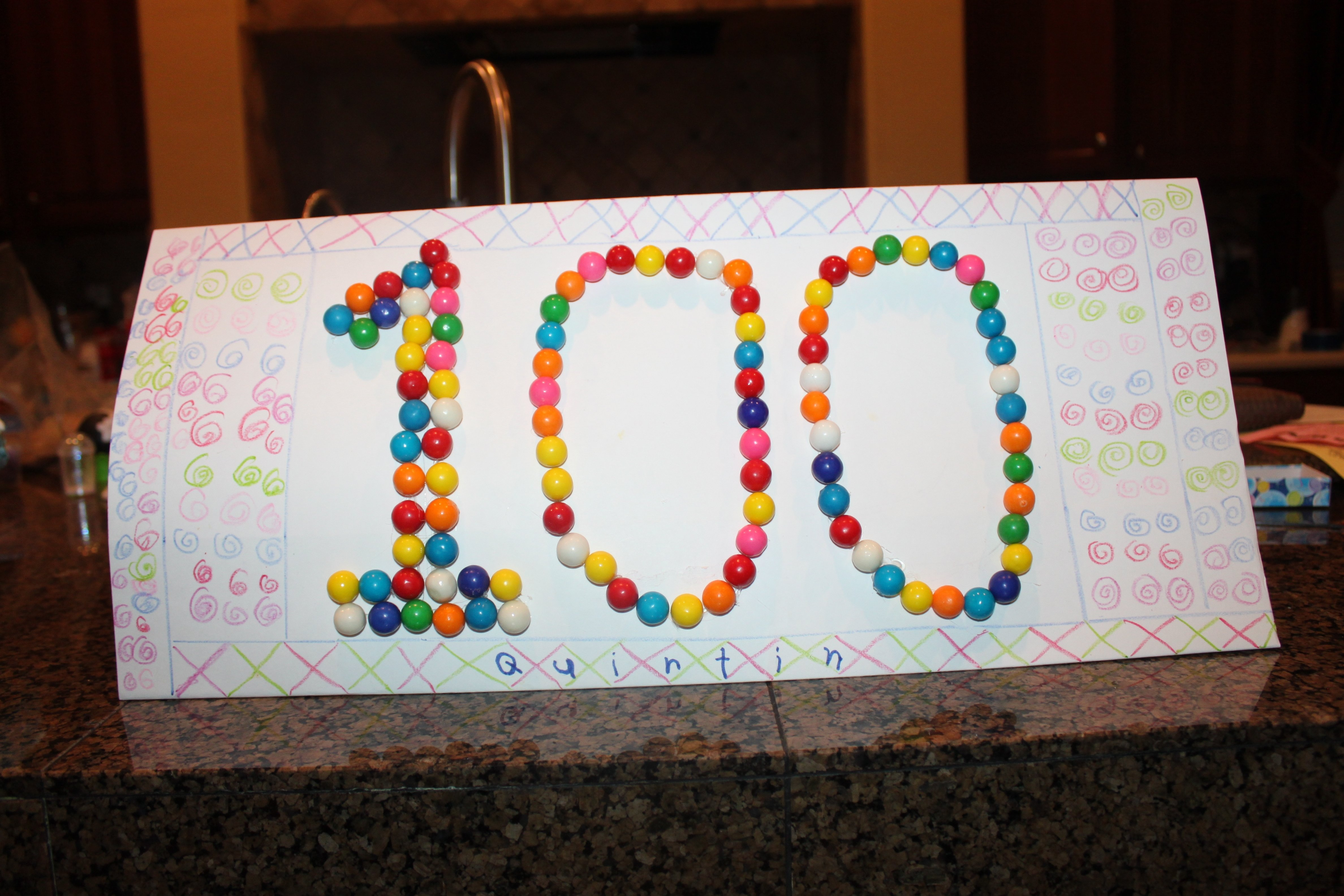 100 days of school poster | quin's art masterpieces