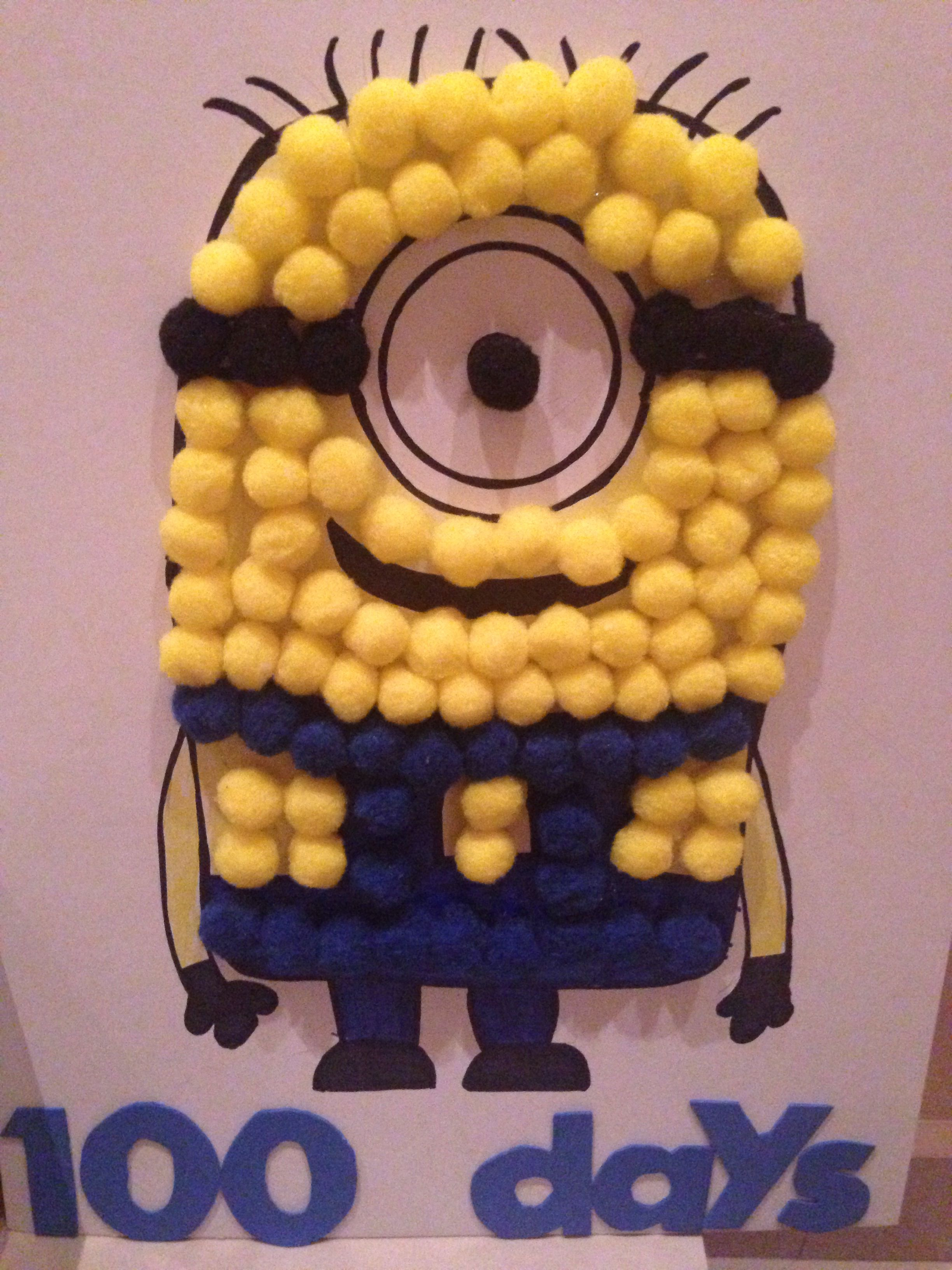 10 Cute School Project Ideas For Kids 100 days of school project minion kids 100 day of school