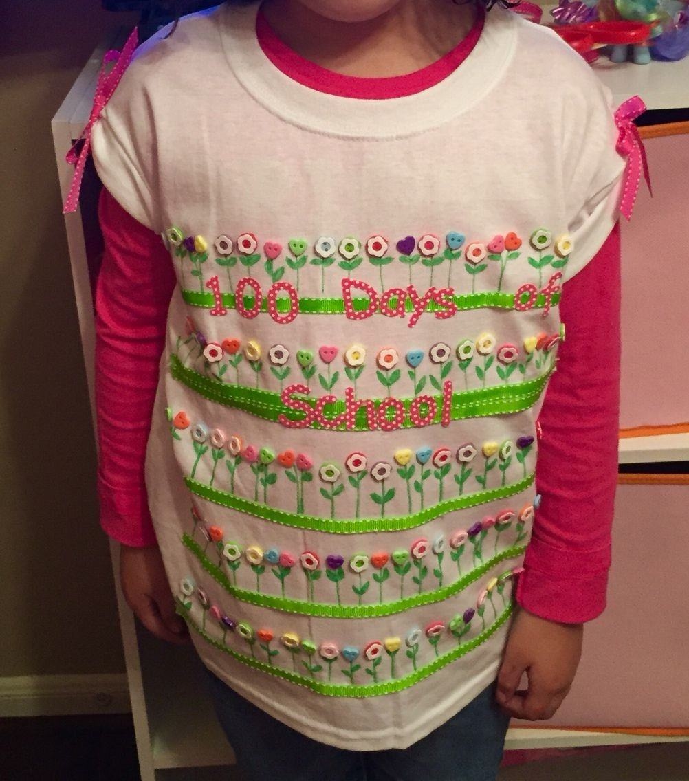 10 Fabulous 100Th Day Of School T Shirt Ideas 100 days of school t shirt idea bottons ribbons markers and thats 1 2021