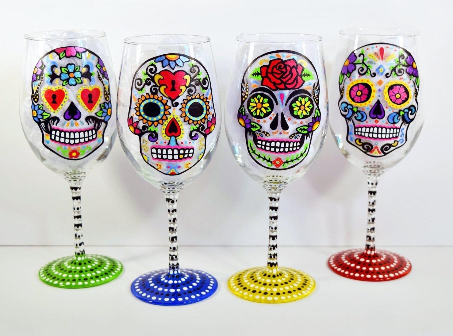 10 Cute Ideas For Painting Wine Glasses 100 fun and amazing unique wine glasses decor snob 2021