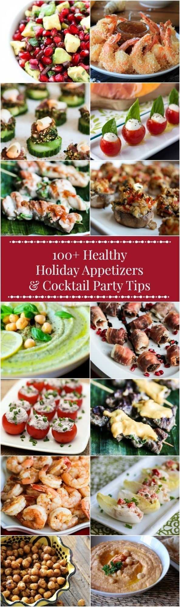100+ healthy holiday appetizer recipes + cocktail party menu