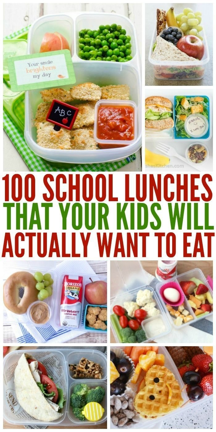 100+ school lunches ideas the kids will actually eat | school lunch