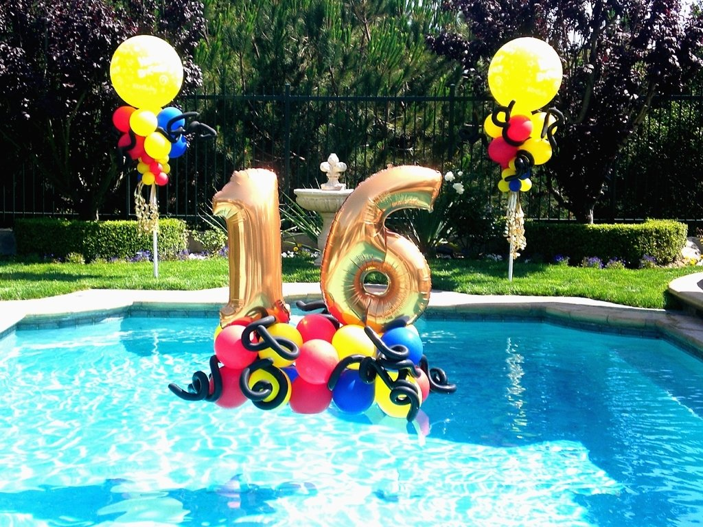 10 Wonderful Sweet 16 Pool Party Ideas 1000 images about sweet 16 balloon party decor on pinterest classic 2020