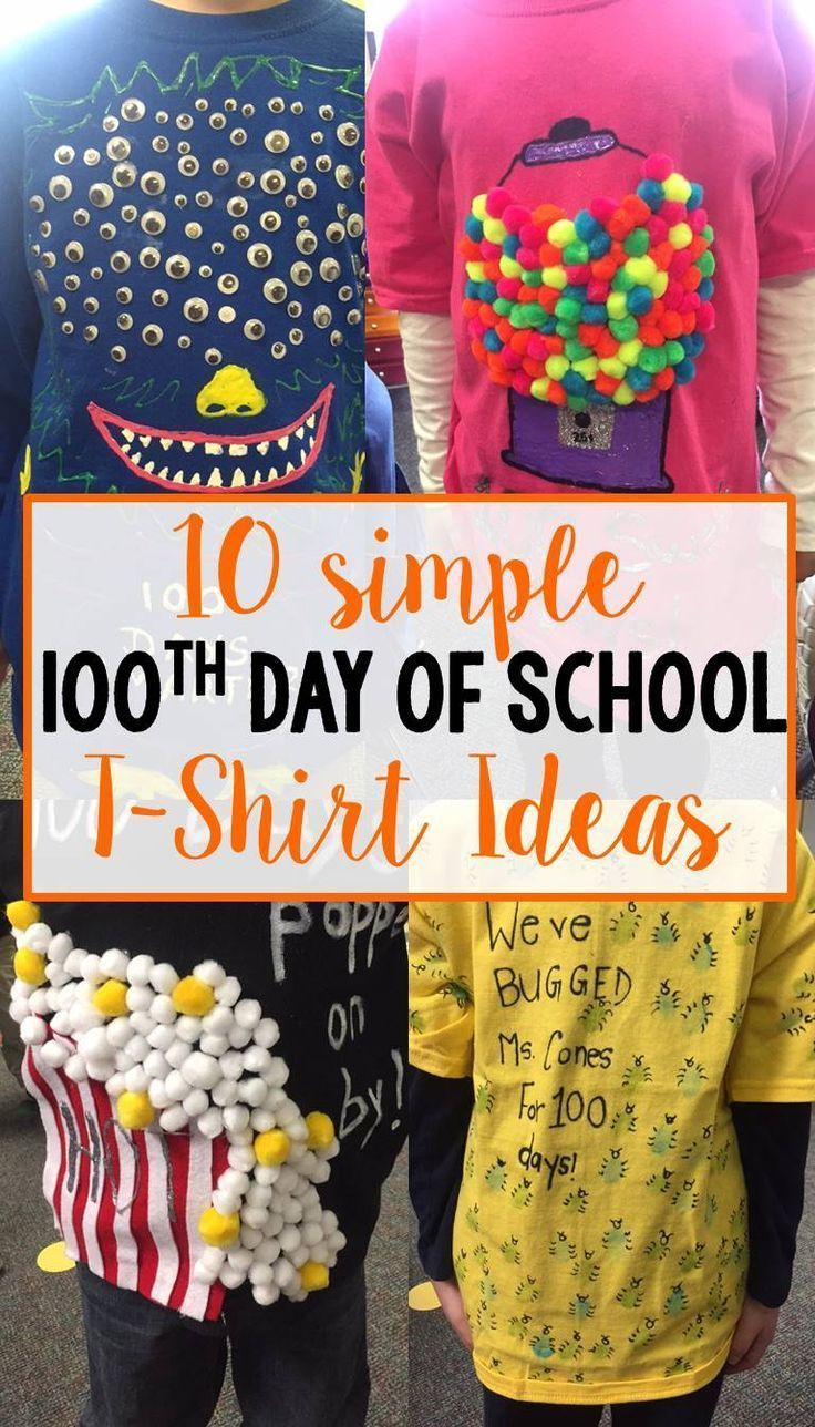 10 Wonderful T Shirt Decorating Ideas For Kids 100th day of school t shirt ideas 100s day 100 days of school 1 2020