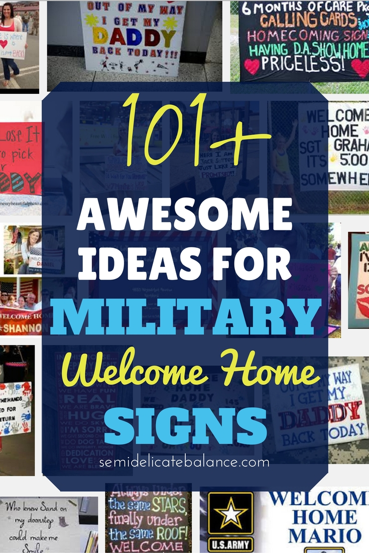 10 Most Recommended Military Welcome Home Sign Ideas 101 awesome ideas for military welcome home signs 2020